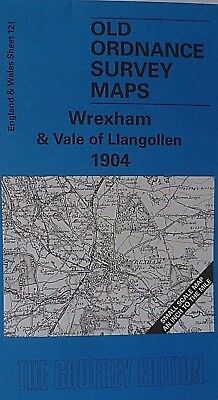 Old Ordnance Survey Maps Wrexham & Vale Llangollen & Plan Chirk 1904/1909 S121