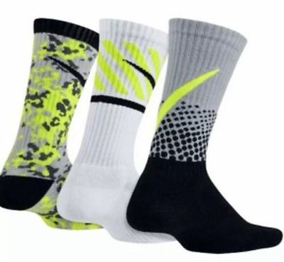 Boy's Nike 'Performance Cotton' Graphic Socks 3pk