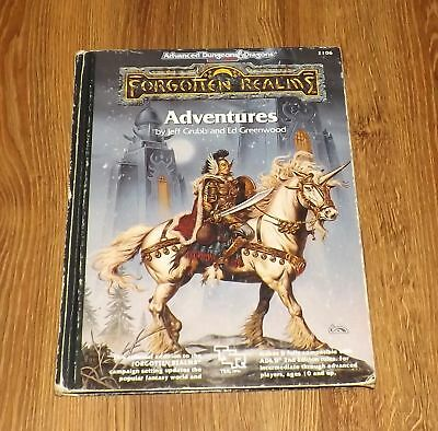 Advanced Dungeons & Dragons 2nd Edition Forgotten Realms ADVENTURES 1990