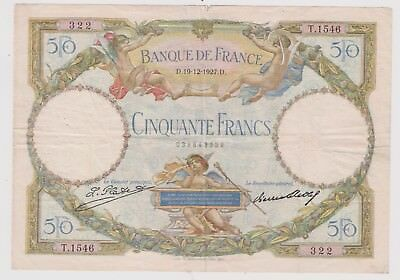 50 Francs (Luc Olivier Merson) - Type 1927 Date 19 - 12 - 1927