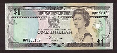 FIJI (1987) 1 DOLLAR QUEEN ELIZABETH NOTE UNC P-86a SIGN S.SIWATIBAU D/9158452