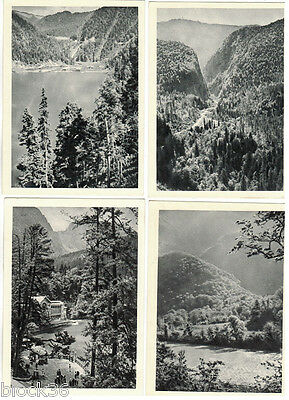 1955 LAKE RITSA 16 Russian postcards in folder PHOTOS by M.Alpert / G.Petrusov