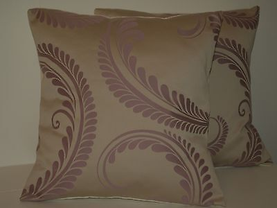 """Laura Ashley Marchmont Amethyst Pair Of 16"""" Cushion Covers"""
