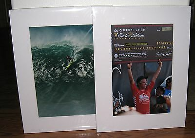 John John Florence Matted Print Package with Extras