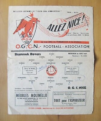 NICE v SHAMROCK ROVERS European Cup 1959/1960 Fair Condition Football Programme