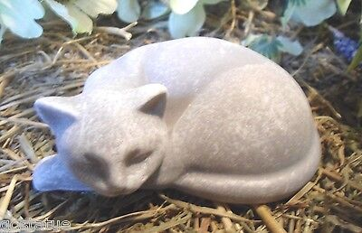 latex only MOLD small lying turned head cat mold plaster mold concrete mold