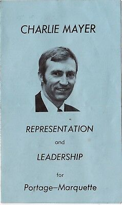 1979 PC Conservative Election Campaign Material Joe Clark Charlie Mayer slc1