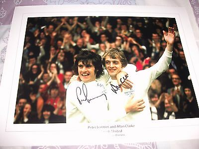 QUALITY LEEDS UNITED 1972 CUP FINAL PRINT 16x12 CLARKE AND LORIMER SIGNED 2