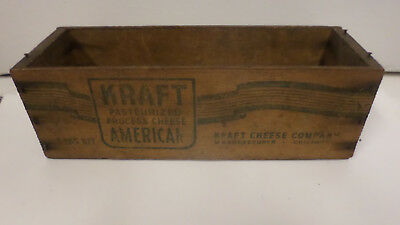 Vintage Kraft  American Cheese 2 Lb. Wood Box circa 1930s