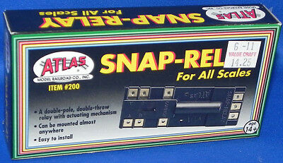 Atlas #200 Snap-Relay All Scales/Gauges New in Box