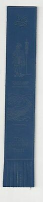 THE National Trust. Blue Leather English Bookmark