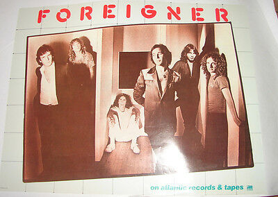 FOREIGNER record store poster  promo 70's 80's  rock poster