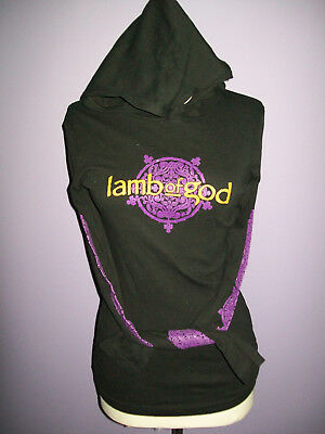 LAMB OF GOD Girls' Women's Pullover Purple Gold Hoodie sz S EXCELLENT CONDITION!