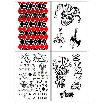 Temporary Tattoo Suicide Squad Harley Quinn Joker Fashion Spray Waterproof id
