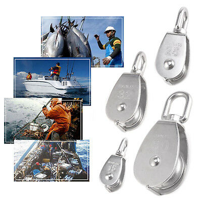 Heavy Duty Stainless Steel Single Double Pulley Block Wheel Swivel Lifting Rope