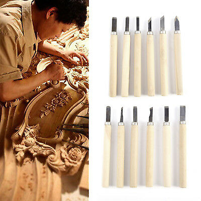 12 pcs CARVING CHISEL SET 135mm CHISEL CLAY WAX HAND TOOLS WOODWORK