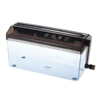 Mini Portable A4 Compact Manual Hand Operated Strip Document Paper Shredder H6O8