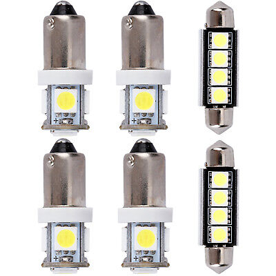 6pcs For Audi A3 8P S3 8L Canbus Interior SMD Lights LED Bulbs White