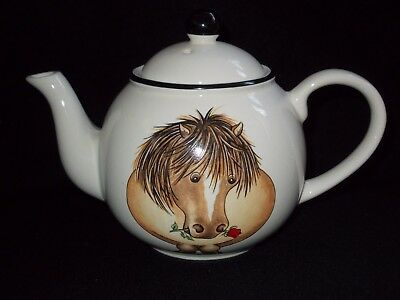 "Arthur Wood ""pony"" Tea For Two Back To Front Teapot"