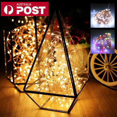 5M/10M/20M USB LED Copper Wire String Lights Fairy Lights World Cup Bar Decor AU