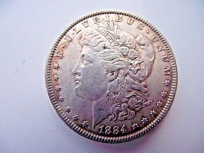Usa United States 1884 Silver Morgan Dollar Excellent Grade See Pictures