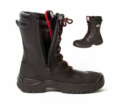 Classic Style Motorcycle Work Safety Boots With Safety Features Size Eu 44 Uk 10