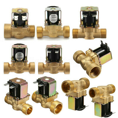 12V/24V/220V 2-Way Normally Closed Electric Solenoid Valve 1/2'' 3/4'' Brass