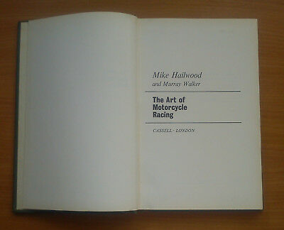 Art Of Motor Cycle Racing by Mike Hailwood & Murray Walker 1963 1st Edition