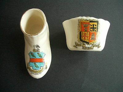 CRESTED CHINA 2 pieces Arcadian (Skegness)  & Albion (Kensington)