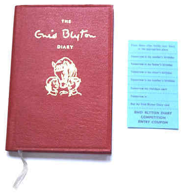 Rare, 1966 The Enid Blyton Diary, Unused And With Original Stickers.