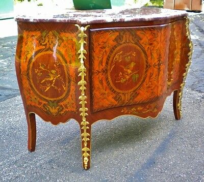 Large Louis style Red marble top Commode Credenza