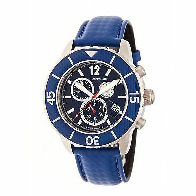 Morphic Morphic M51 Series Swiss Leather Strap Watch, Blue, Standard MPH5107