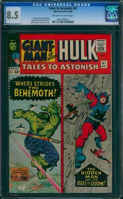 Tales to Astonish # 67  Where Strides the Behemoth !  CGC 8.5  scarce book !