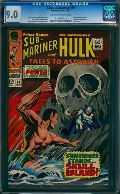 Tales to Astonish # 96  Somewhere Stands Skull Island !  CGC 9.0  scarce book !