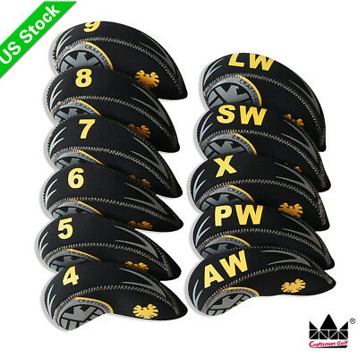 11PCS/Set Neoprene Golf Iron Covers Head cover For mizuno Titleist Cobra Ping