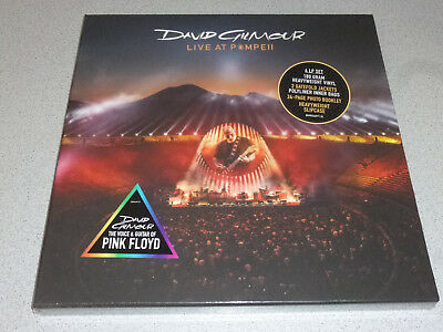 DAVID GILMOUR - Live At Pompeii- 4LP Set 180g Vinyl /// New /// incl. 24 Page B.