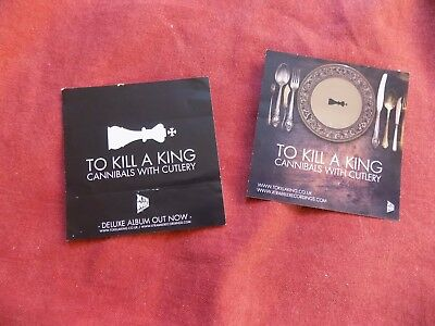 MEMORABILIA: CANNIBALS WITH CUTLERY To kill a king X2 stickers INDIE