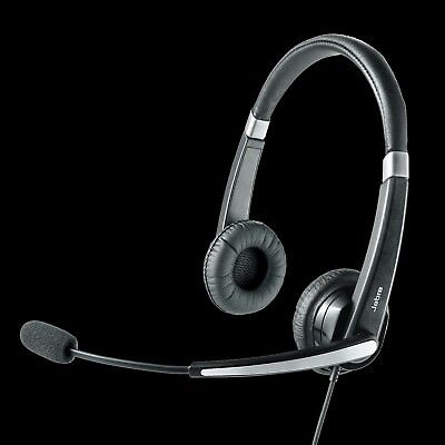 Jabra UC Voice 550 Duo Headset Dell UC300 USB Headphone Microphone Skype BNIB