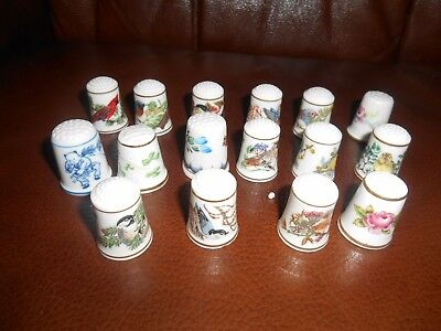 Thimbles  X  16,  11 X Songbirds Of The World, 1 X Limoges, 1 X R,worcester, Gin