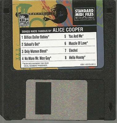 Tune 1000 Standard Midi Files 3.5 Floppy Disk - Songs Famous By Alice Cooper