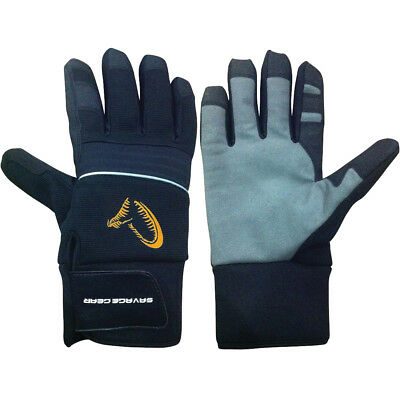 Savage Gear NEW Thermo Fishing Gloves Available in Large or XLarge