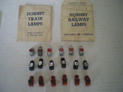 Vintage Hornby O Gauge Lead Train Lamps With Two Original Packets