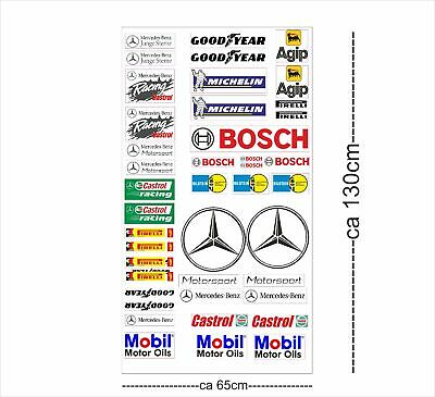 Mercedes Logo Autoaufkleber Sponsoren Marken Aufkleber Decals Tuning Sticker Set