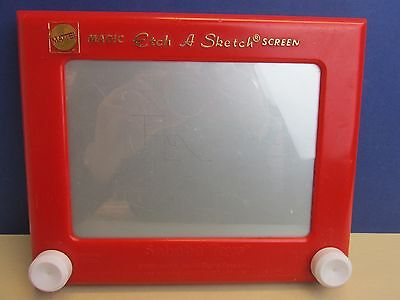 CLASSIC RED etch a sketch TOY RETRO KIDS drawing toy mattel  H58