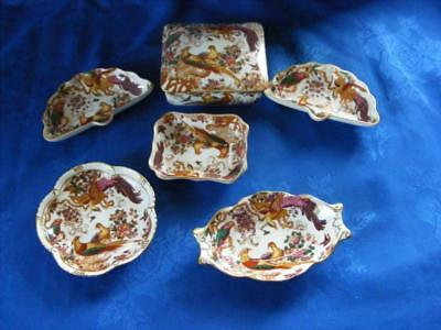 """Crown Derby """"olde Avesbury"""" Selection Of 6 Trinket Dishes -Excellent Condition !"""