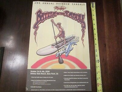 2nd annual GERRY LOPEZ  battle of the paddle poster 2009 FREE SHIPPING!