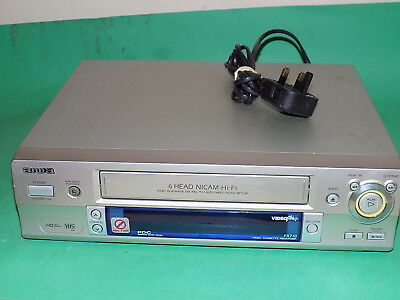 AIWA HV-FX710K Video Cassette Recorder VHS Silver VCR Silver Fully Tested