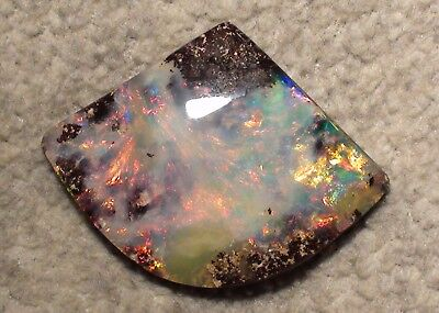 Fantastically Beautiful Multicolour Boulder Opal Top Stone - 62,5ct with Video