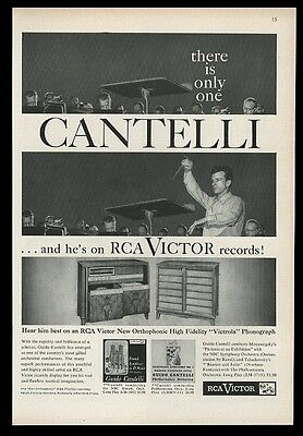 1956 Guido Cantelli photo RCA Victor vintage print ad