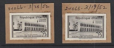 HAITI 1953 25C SPECIAL DELIVERY PHOTOGRAPHIC PROOFS ex ABN ARCHIVES ARTWORK